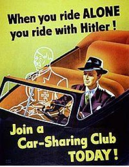 A World War II era poster.  The link between importing fuel and national security has long been understood.
