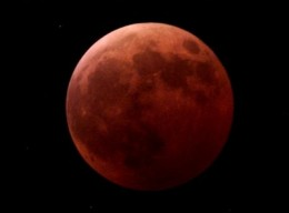 Recent photo of Lunar Eclipse, have been unable to locate the source could be one of my photos or someone else's.