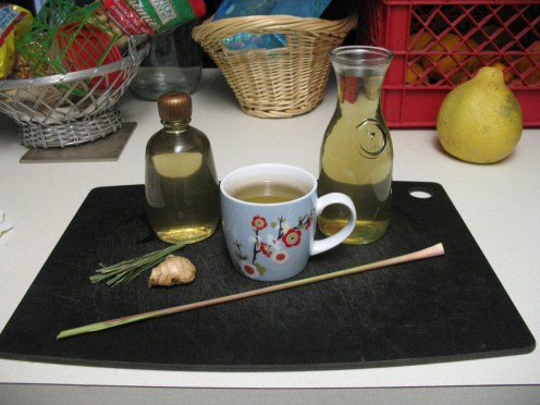 Ginger & Lemongrass infused Simple Syrup and Ginger & Lemongrass Tea