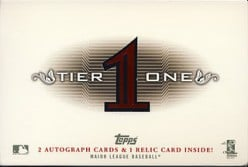 2011 Topps Tier One Baseball Box Review.