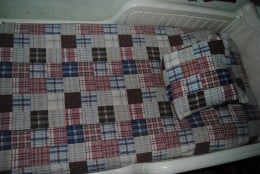 This was a queen-size bedspread. I make two sets, one for each boy!