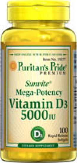 Each softgel  is 5,000IU.