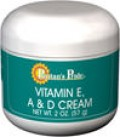 VITAMIN E CREAM WITH VITAMINS A & D ADDED. Contains Retinyl A and Vitamin E. Good for skin and getting some vitamin intake as well. Excellent moisturizing emollient cream for unbroken, dry, weathered skin.