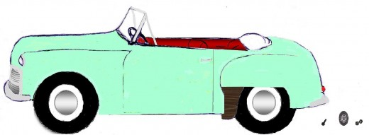 Drawing of a 1957 Hillman Minx by Shyron Shenko