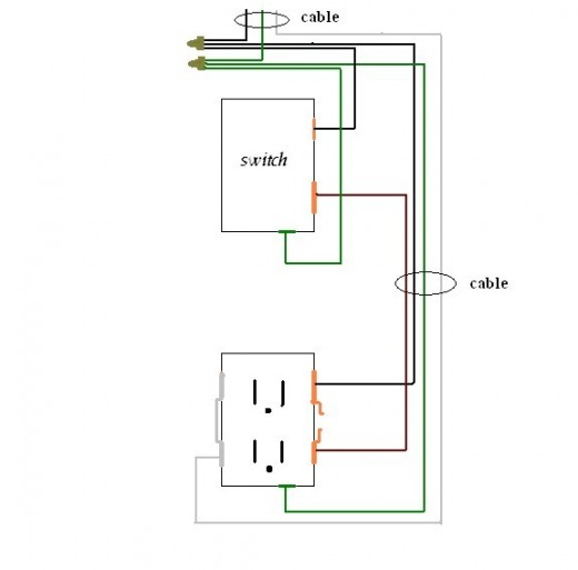 wiring diagram switch outlet combo wiring diagrams and schematics wiring a switched outlet diagram electrical