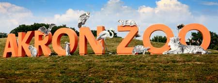 Akron Zoo Sign