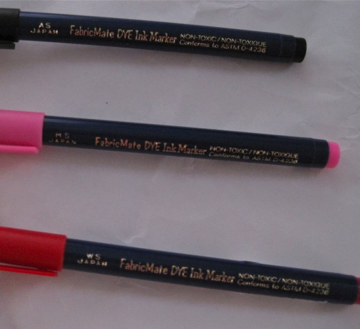Non-Toxic FabricMate Dye Ink Markers are supple, yet sturdy with a solid tip base.