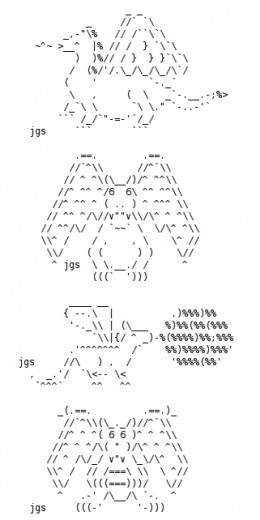 One Line Ascii Art New Year : Year of the dragon happy new ascii text art hubpages