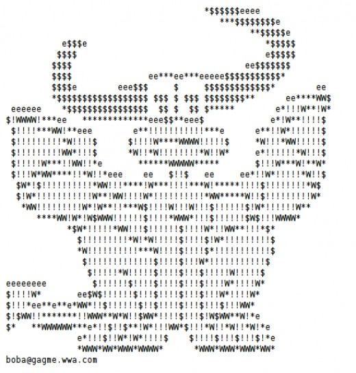 One Line Ascii Art New Year : Year of the dragon happy new ascii text art