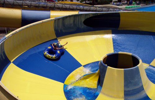 """Get stuck in on a water-park. This was taken in """"Aqualand"""" in Gran Canaria"""