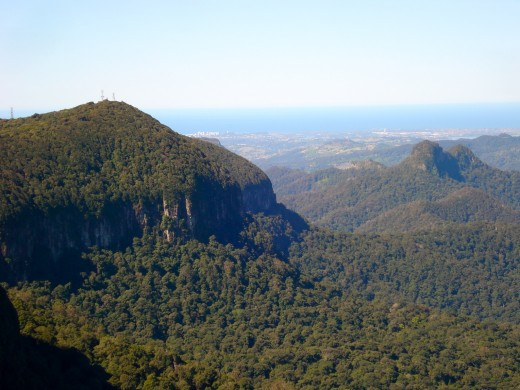 The Gold Coast Hinterland, Queensland, looking towards the Pacific Ocean
