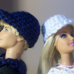 Ken and Barbie Caps