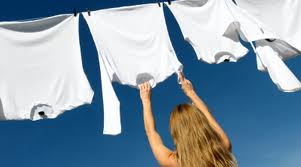 Drying clothes outside saves energy, and makes them smell fresh!