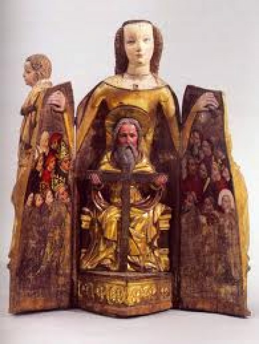A vierge ouvrante from England, a very interesting piece of medieval art