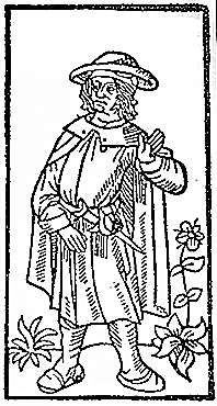 Francois Villon from  1489 printing of his poetry