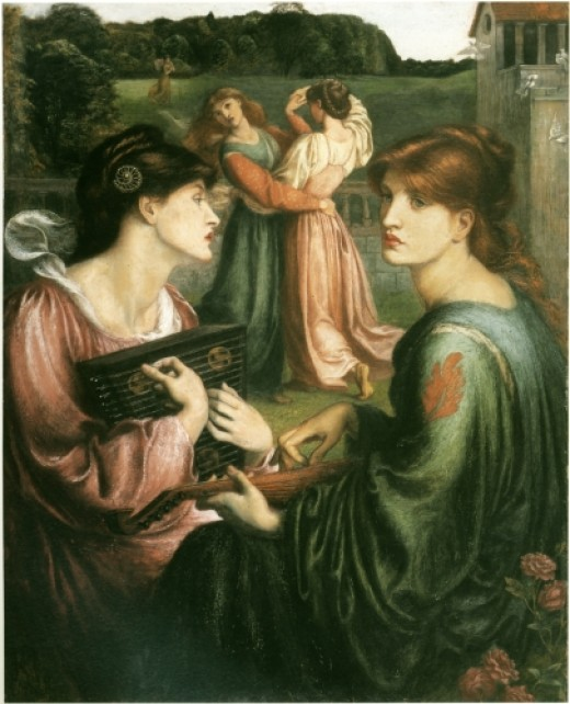 Bower meadow as painted by Dante Gabriel Rossetti in 1872