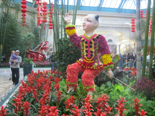 More beautiful flowers and a Chinese child, an important part of the celebration of the Chinese New Year.