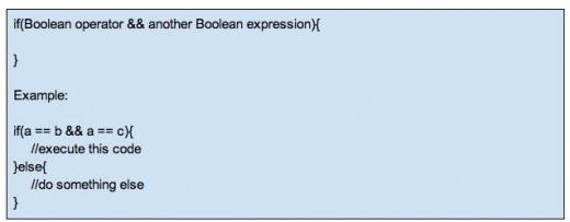 Combining multiple Boolean expressions with the (and) && operator