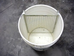 Roller grids are a wise option for large buckets; it saves trying to pour from a heavy container into a tray