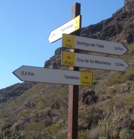 Signpost for walks near Tamaimo. Photo by Steve Andrews