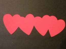Hearts border cutout Red cardstock