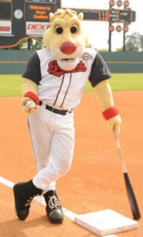 Ozzie, the Nashville Sounds mascot.