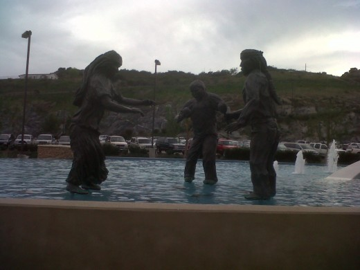Statue at the Valley View Casino