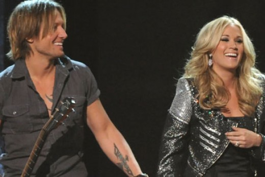 Keith Urban and Carrie Underwood