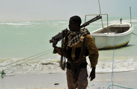 Somali pirate on patrol
