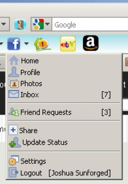 Online Writers Toolbar - Facebook Integration (click for full size)