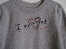 A Valentine's Day painted t-shirt for a boy is an easy project!