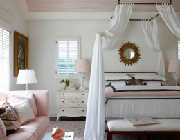 Soft and light linens help create a romantic setting.
