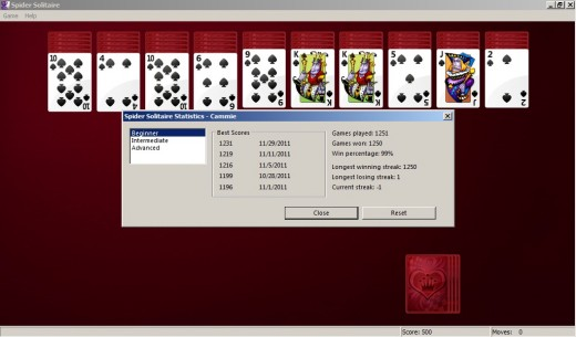 My solitaire record.  Broken.