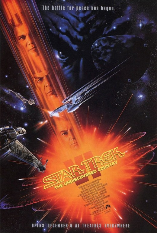 Star Trek VI The Undiscovered Country - art by John Alvin