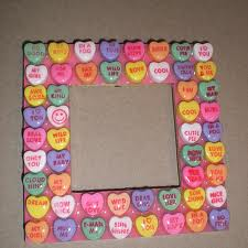 Conversation hearts picture frame