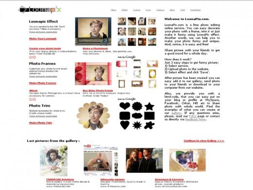 Loonapix.com homepage