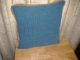 This is a square, 2-color pillow.