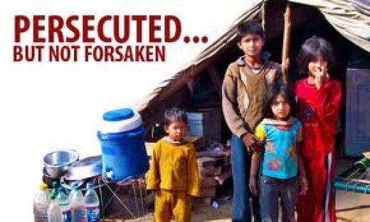 A picture of persecuted children from an Open Doors campaign.