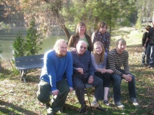 me, grampa, sis, cory, mom, andy
