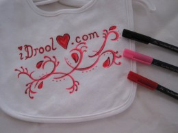 You can create a colorful design on t-shirt fabric for Valentine's Day!