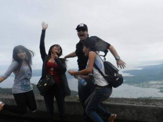 Jumping for joy we ended our afternoon in Tagaytay.