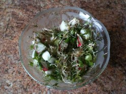 Radish Salad with Roasted Sesame Seeds in Olive Oil