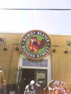 "how could you NOT wana walk in a bar named the ""rowdy beaver"""