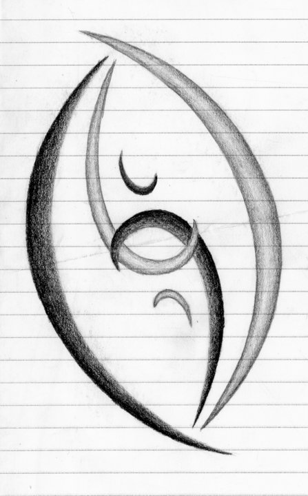 A side note: This is a design a friend came up with for me.  I now have it tattooed on my back!  But no one really knows what is it besides me and my friend.