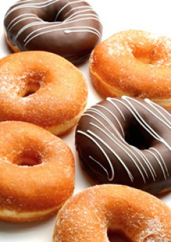 How many different types of toppings can you think of for a donut?