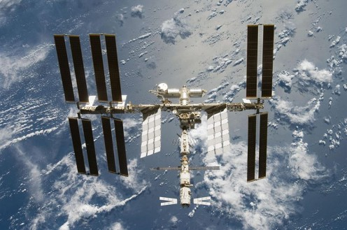 The International Space Station Orbiting The Earth