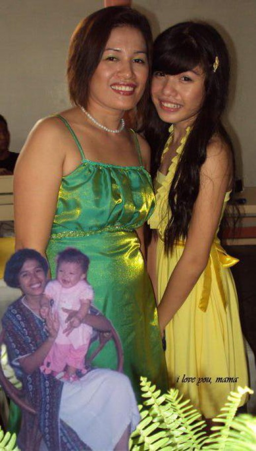 my daughter-in-law and my eldest granddaughter