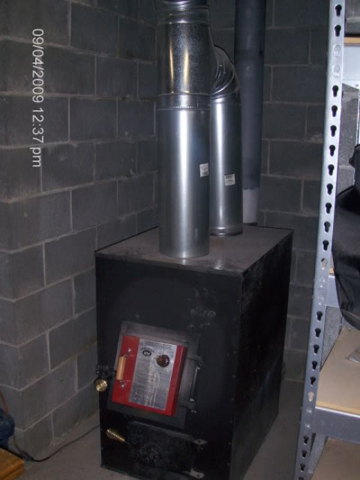 an example of an indoor wood furnace