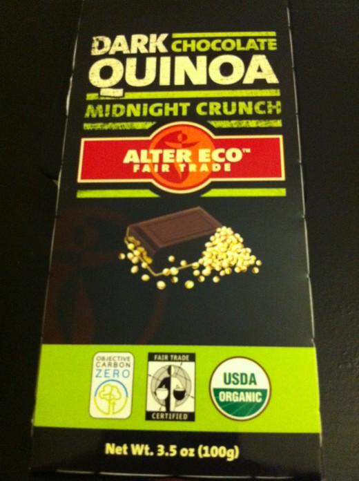 Alter Eco: Dark Chocolate Quinoa Midnight Crunch
