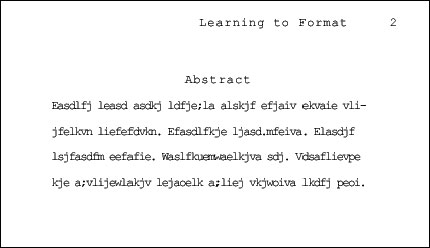 APA Abstract format provided by http://owl.english.purdue.edu/owl/printable/560/